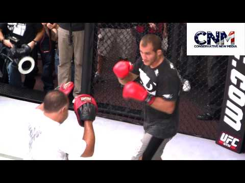 Junior Dos Santos UFC 117 Open Workout Highlights !