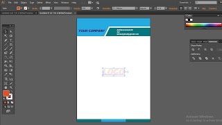 how to make professional business letterhead design in adobe Illustrator