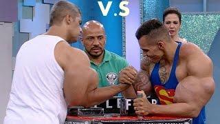 getlinkyoutube.com-Schwarzenegger vs Romario synthol arms - 3ajaib wa gharaib 2017 عجائب و غرائب