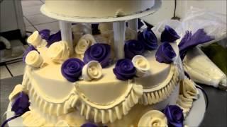 getlinkyoutube.com-How to Design a Two Tier Wedding Cake with open Pillars