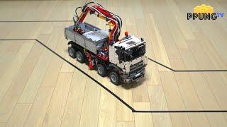 getlinkyoutube.com-LEGO Technic 42043 - Autonomous driving car (self-driving) RC motorized Mercedes-Benz Arocs by 뿡대디