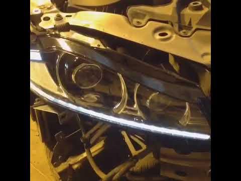 Установка рестайлинговых фар на Jaguar XF дорестайлинг