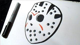 Cómo dibujar Mascara de Jason Graffiti