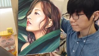 getlinkyoutube.com-Pastel Drawing - Park Bo Young 박보영 | drawholic