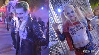 getlinkyoutube.com-NEW! Suicide Squad - Six Flags Fright Fest Meet & Greet -  Joker, Harley Quinn, Killer Croc