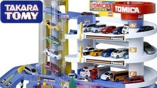 getlinkyoutube.com-Tomica Auto Parking Garage Takara Tomy Disney Pixar Cars  トミカ スーパーオート トミカビル