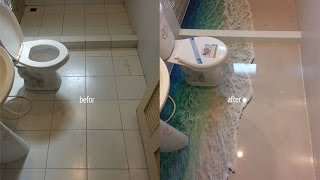 getlinkyoutube.com-DIY การทำพื้นห้องน้ำ 3D