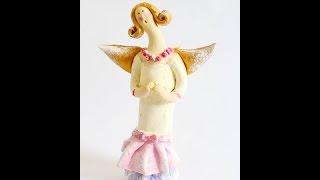 getlinkyoutube.com-Anioł Tilda masa solna/ Salt Dought angel