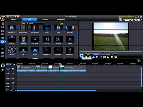 """How to edit video's"" in ""CyberLink PowerDirector"""