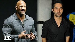 Watch Varun's special message for Dwayne Johnson on his 44th birthday