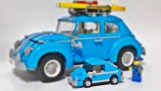 getlinkyoutube.com-decool 폭스바겐 비틀 미니버전 레고 짝퉁 자동차 조립 리뷰 Lego knockoff moc 10252 Volkswagen Beetle mini
