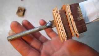 getlinkyoutube.com-Как сделать рукоять для ножа из подшипника своими руками #3