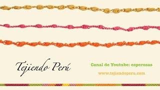 getlinkyoutube.com-Cómo tejer un cordón de piñas de medio puntos a crochet