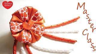 getlinkyoutube.com-Как Сделать БАНТ c СПИРАЛЬКАМИ и СЕРДЕЧКАМИ / How To Make a Hair Bow / Alina Boloban