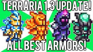 Terraria 1.3: All BEST Armor! Nebula, Solar Flare, Vortex, & Stardust Armor Sets! // demize