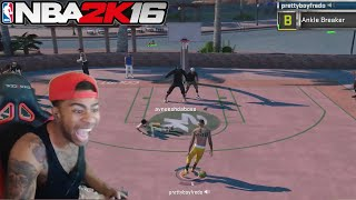 getlinkyoutube.com-EXPOSING TRASH TALKERS AT THE PARK!! NBA 2K16