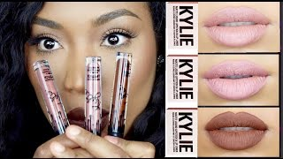 getlinkyoutube.com-Kylie Jenner LipKit - Swatches -- Irisbeilin