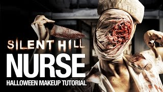 getlinkyoutube.com-Silent Hill nurse Halloween makeup tutorial