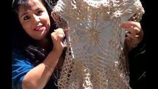 getlinkyoutube.com-Chaleco Araña - Tejido con Gancho - Tejiendo con Laura Cepeda