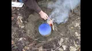 getlinkyoutube.com-Making Oil From Birch Bark