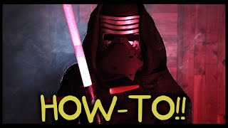 getlinkyoutube.com-Make Your Own Kylo Ren Lightsaber and Costume! - Homemade How-to!