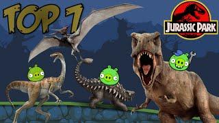 getlinkyoutube.com-TOP 7: Dinosaurs of Jurassic Park in Bad Piggies