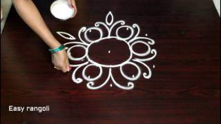 getlinkyoutube.com-muggulu designs with 5 to 3 interlaced dots - rangoli art designs - simple kolam