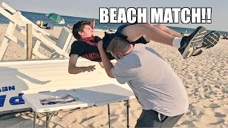 BURIED ALIVE WRESTLING MATCH! Brutal POWERBOMB through TABLE!