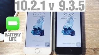 iOS 10.2.1 vs. iOS 9.3.5 Speed Test + Benchmark + Battery Life! Which is Faster? Is 10.2.1 Faster?