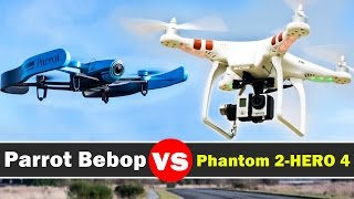getlinkyoutube.com-Parrot Bebop Vs DJI Phantom 2 With GoPro Hero 4 Black - Drone Comparison