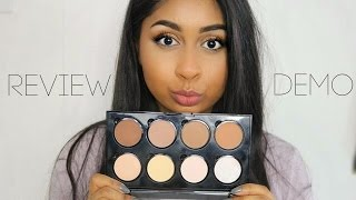 NYX Highlight & Contour Pro Palette! Review & Demo on Dark Skin Tone
