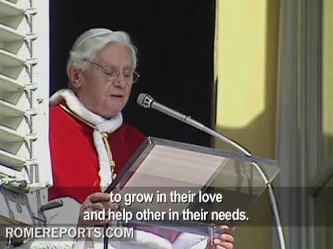 Benedict XVI's Angelus prayer   