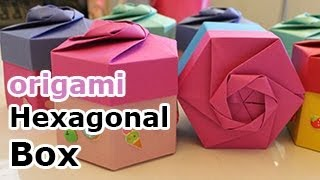 getlinkyoutube.com-Origami Hexagonal Gift Box (Non Modular)