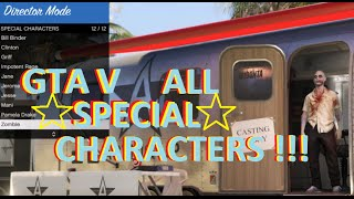 getlinkyoutube.com-GTA5 LIST of ALL SPECIAL CHARACTERS!!!