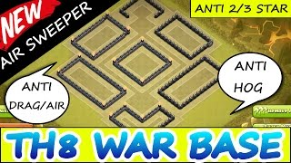 "getlinkyoutube.com-Clash Of Clans | ""INCREDIBLE TH8 WAR BASE"" | ANTI AIR/DRAG ANTI HOG ANTI 2/3 STAR! (2015)"