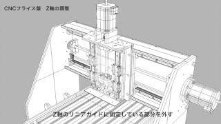 getlinkyoutube.com-CNCフライス盤 Z軸の調整 CNC Milling machine Z axis adjustment