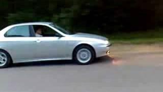 getlinkyoutube.com-Moja Alfa 156 2.5 na sledziku