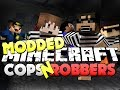 Minecraft Modded Cops and Robbers 1 - SMART MOVING MOD Bodil40, Mitch, Vikk and Woofless