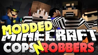 getlinkyoutube.com-Minecraft Modded Cops and Robbers 1 - SMART MOVING MOD (Bodil40, Mitch, Vikk and Woofless)