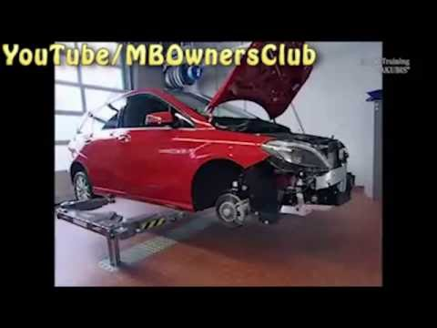 Mercedes Benz B-Class | Engine removal