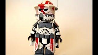 getlinkyoutube.com-Custom LEGO Star Wars Clone Sergeant Hound Minifigure (HD)