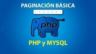 Paginación básica con PHP y MYSQL