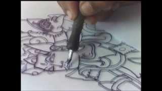 getlinkyoutube.com-Proses Pembuatan Lukisan Kaca Desa Nagasepaha (Buleleng - Bali)