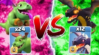 getlinkyoutube.com-Clash Of Clans - NEW MAX LEVEL DRAGON vs BABY DRAGON! - BATTLE FOR THE SKY!