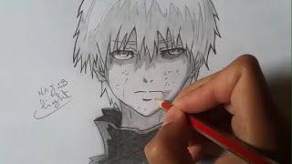 getlinkyoutube.com-Drawing Kaneki Ken from Tokyo Ghoul (pencil) 東京喰種トーキョーグールの金木研を書いてみた