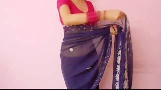 getlinkyoutube.com-Saree Video-How To Wear A Sari/Saree Wraping Video Tutorial For Beginners/Saree Drape
