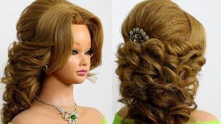 getlinkyoutube.com-Arabic wedding hairstyle for long hair. Tutorial