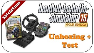 getlinkyoutube.com-SAITEK LS15 LENKRAD UNBOXING + TEST - LANDWIRTSCHAFT SIMULATOR 15 GOLD ADDON ★Lenkrad Cam Gameplay