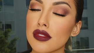 getlinkyoutube.com-Fall Glam Look Makeup Tutorial | Brown Eyes | Zuleyka Silver
