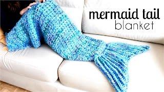 getlinkyoutube.com-How to crochet a MERMAID TAIL BLANKET ♥ CROCHET LOVERS
